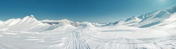 Panorama of Pinachevsky pass Royalty Free Stock Photography