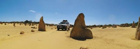 Panorama of Pinnacles Desert, Nambung National Park, West Australia Stock Image