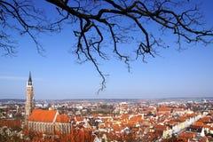 Panorama pintoresco de Landshut. Fotografía de archivo libre de regalías