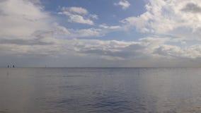 Panorama piovoso 4k Florida S.U.A. del lago delle nuvole della tempesta di giorno di estate archivi video