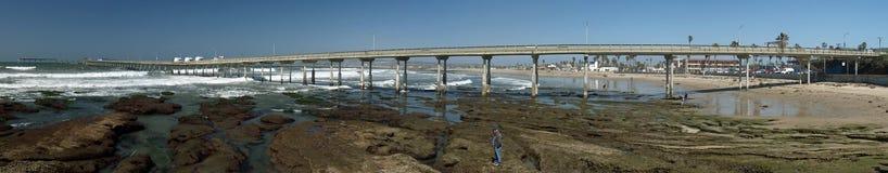 panorama- pir strandKalifornien för ursnyggt hav fotografering för bildbyråer