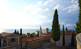 Panorama of Piran Stock Photography