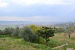 Panorama Piran adriático de Eslovenia del ovlje del  de SeÄ, meditrean imágenes de archivo libres de regalías