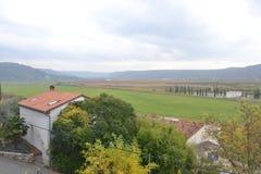 Panorama Piran adriático de Eslovenia del ovlje del  de SeÄ, meditrean fotografía de archivo