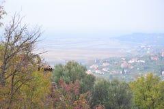 Panorama Piran adriatique de la Slovénie d'ovlje de  de SeÄ, meditrean Images libres de droits