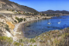 Panorama of Pirates Cove beach , California, USA. Panoramic view of wonderful Pirates Cove beach at San Louis Obispo County, California, USAnnThe beach is hidden stock photography