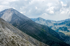 Panorama of Pirin mountain. Bulgaria with Vihren peak in background Stock Photos
