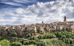 Pitigliano, medieval village of Tuscany - Italy royalty free stock images