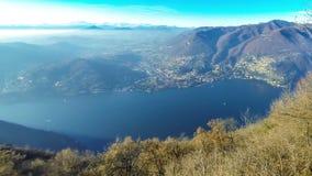 Panorama pittoresco del lago Como, Lombardia, Italia archivi video