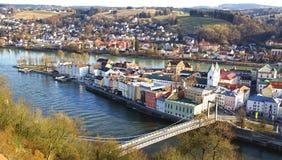 Panorama pittoresque de Passau. Allemagne image libre de droits