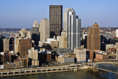Panorama of Pittsburgh Royalty Free Stock Image