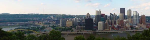 Panorama of the Pittsburgh, Pennsylvania skyline Royalty Free Stock Photography