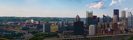 Panorama of the Pittsburgh skyline Stock Image