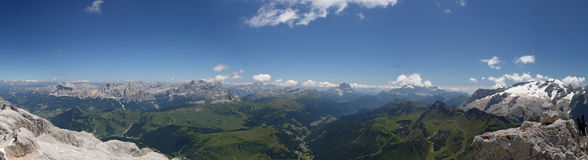 Panorama from Piz Boè Royalty Free Stock Photography