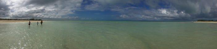 Panorama plaża i morze w Cayo Coco, Kuba obrazy stock
