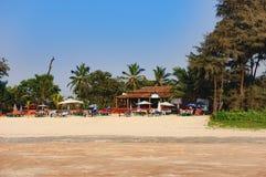 Panorama plaża, Południowy Goa, India fotografia royalty free