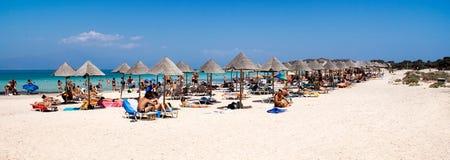 panorama plażowa Fotografia Stock