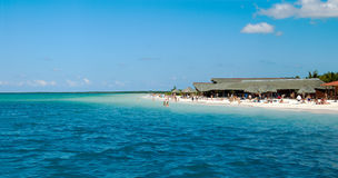 panorama plażowa tropikalna Obrazy Royalty Free