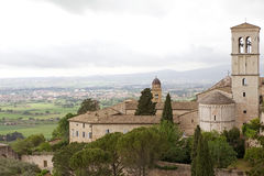 Panorama of the plain of Assisi, Italy Royalty Free Stock Image