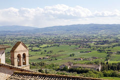 Panorama of the plain of Assisi, Italy Royalty Free Stock Photography