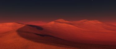 Panorama planeta Mars ilustracji