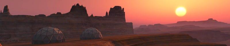 Panorama planeta Mars Zdjęcia Royalty Free