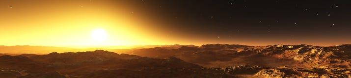 Panorama planeta Mars Obraz Royalty Free