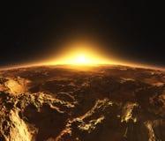Panorama planeta Mars Zdjęcie Royalty Free