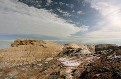 Panorama of the plateau Shalkar-Nura. Ustyurt Stock Photos