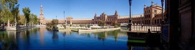 Panorama Plaza de España Stockfoto