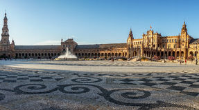 Panorama of plaza de espana in Seville, Spain, Europe Stock Image