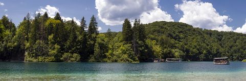 Panorama of Plitvice lakes, Croatia. Stock Photography