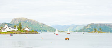 Panorama of Plockton. Royalty Free Stock Image