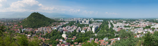 Panoramic view of Plovdiv, Bulgaria. Daytime panorama of Plovdiv, Bulgaria Stock Images