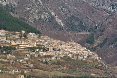 Panorama of poggio bustone Stock Photos