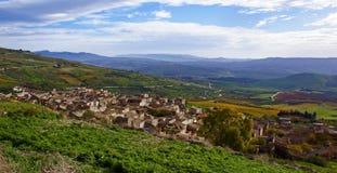 Panorama, poggioreale sicily. View of a sicilian landscape of campaign stock photos