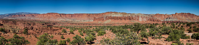 Panorama Point of the Capitol Reef National Park Stock Photo