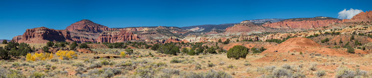 Panorama Point of the Capitol Reef National Park Royalty Free Stock Photos