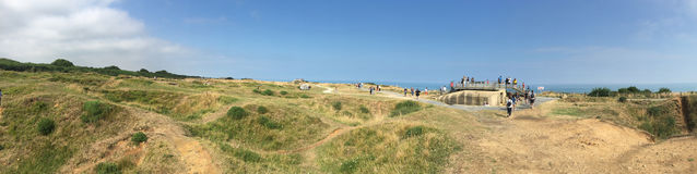 Panorama Pointe du Hoc, Frankreich Lizenzfreie Stockbilder