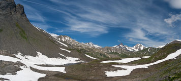 Panorama from Pointe Rousse pass Stock Photo