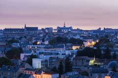 Panorama of Poitiers with city hall at sunset. Poitiers, Nouvelle-Aquitaine, France Stock Photos