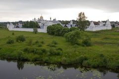 Panorama of Pokrovsky monastery and the river Kamenka in Suzdal. Russia. Royalty Free Stock Image