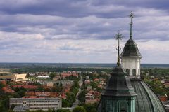 Panorama of poland. Small city in Poland, Chelm Stock Image