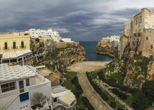 Panorama polignano a mare stock photo