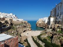 Panorama of Polignano a Mare. This magnificent place is in south of Italy, in Puglia. Panorama polignano mare magnificent place italy south puglia you can see stock photos