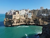 Panorama of Polignano a Mare. This magnificent place is in south of Italy, in Puglia. Panorama polignano mare magnificent place italy south puglia you can see royalty free stock photo