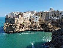 Panorama of Polignano a Mare. This magnificent place is in south of Italy, in Puglia. Panorama polignano mare magnificent place italy south puglia you can see stock image