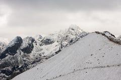 Panorama of Polish Tatra mountains Stock Photography