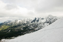 Panorama of Polish Tatra mountains Royalty Free Stock Photo