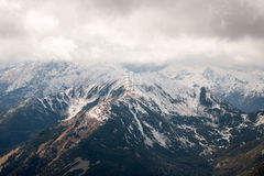 Panorama of Polish Tatra mountains Stock Photos